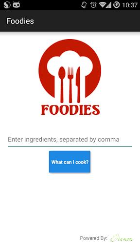 Foodies: Recipe by ingredients