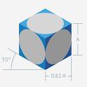 Áreas y volúmenes icon