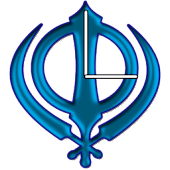 Khanda (Blue) Clock Widget