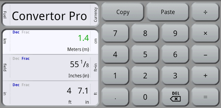 نسخة جديدة من برنامج التحويل بين الوحدات Convertor Pro V3.0.1