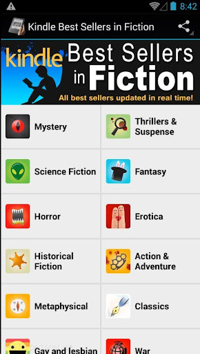 Kindle best sellers in fiction