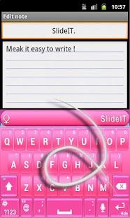 SlideIT Pinky Valentine Skin - screenshot thumbnail