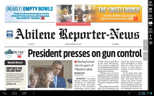Abilene Reporter-News Print- screenshot thumbnail