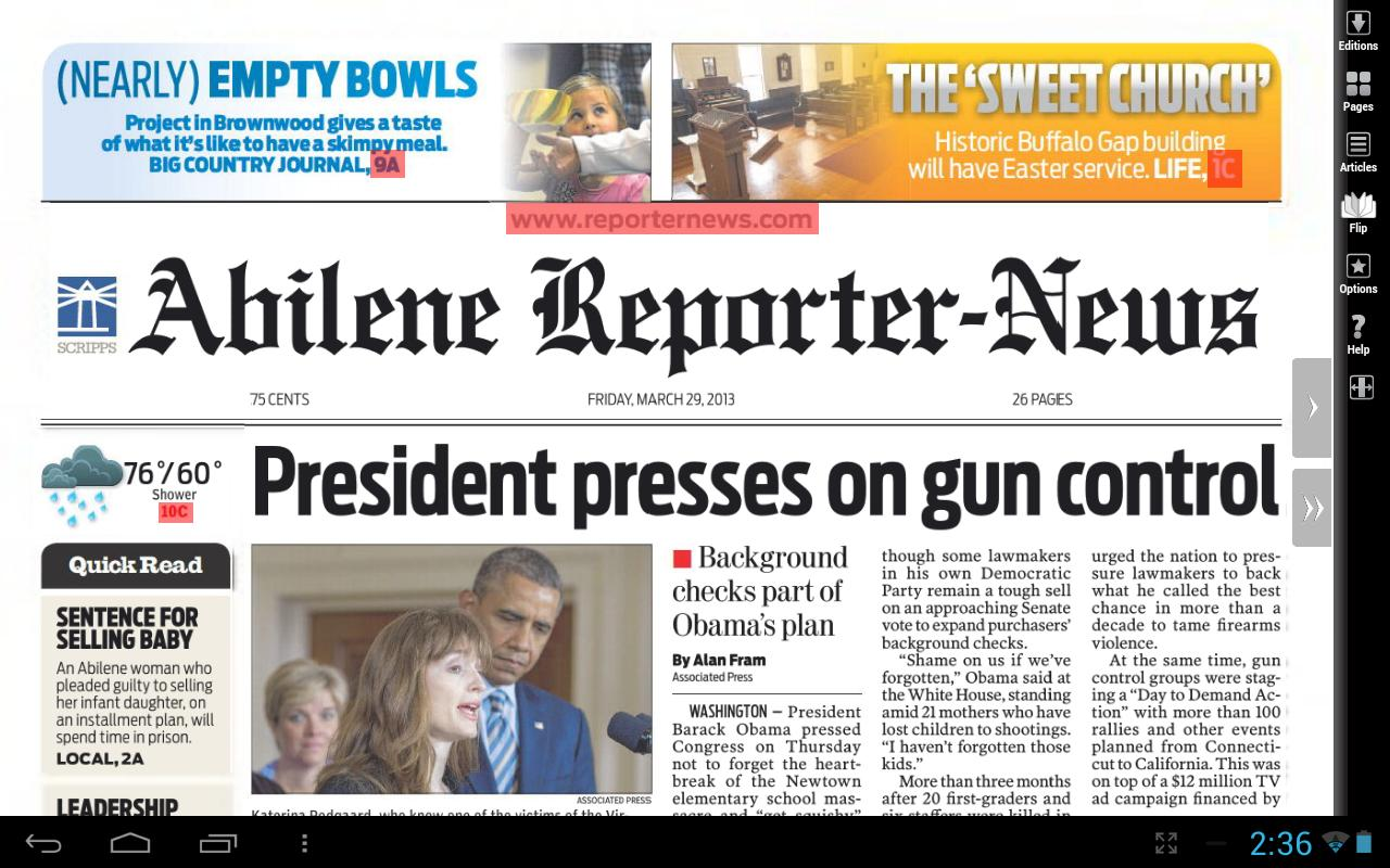 Abilene Reporter-News Print- screenshot