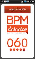 Screenshot of BPM-Detector