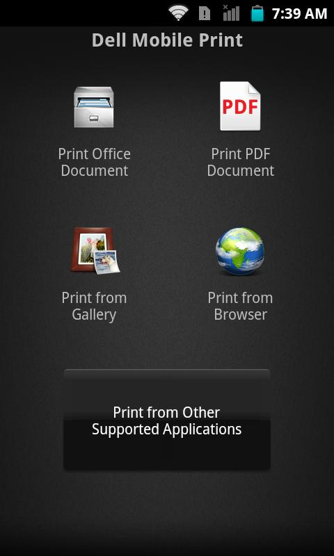 Dell Mobile Print - screenshot