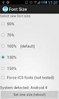 Screenshot of Font Size Editor donate ICS/GB