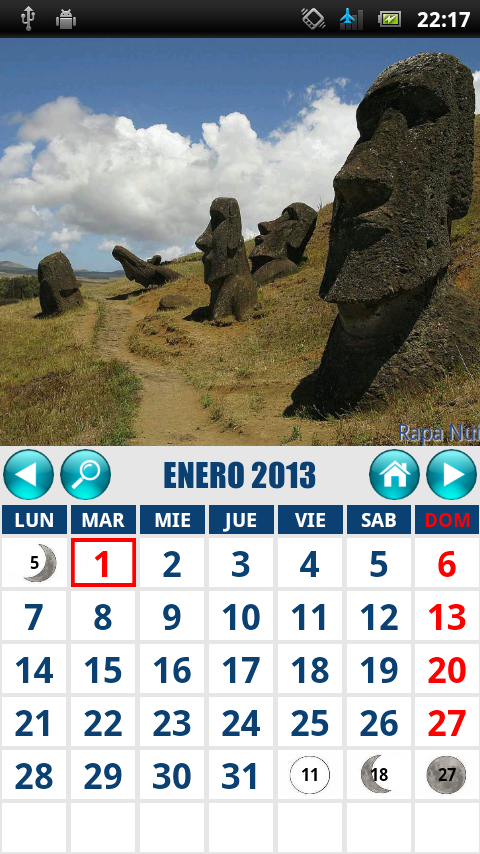 CalendarioCL- screenshot