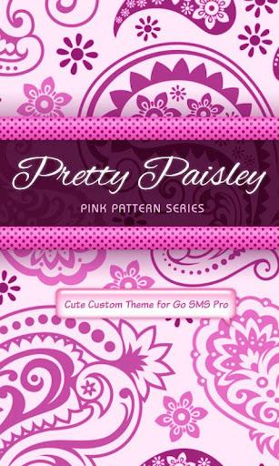 Pretty Pink Paisley SMS Theme