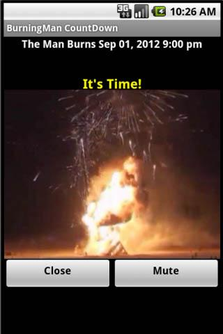 Burning Man Count Down - screenshot