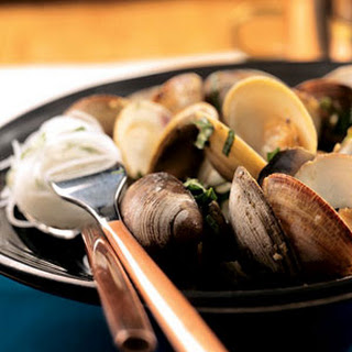 Steamed Clams with Thai Basil and Chiles.