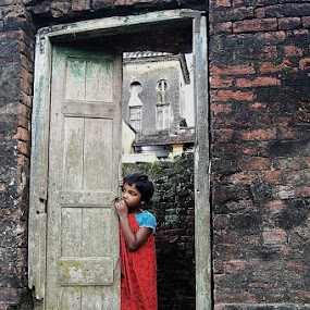 from broken door to road.... by Sinha Debasis - People Street & Candids