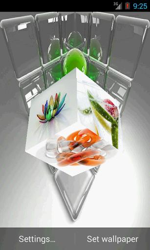 3D Glass Live Wallpaper