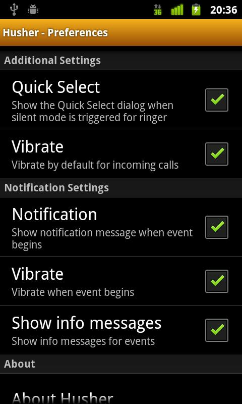 Husher Pro (Phone Silencer) - screenshot