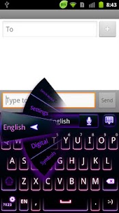 GO Keyboard Purple Neon Theme - screenshot thumbnail