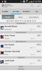 NFL Fantasy Cheat Sheet - screenshot thumbnail