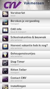 CNV Vakmensen App - screenshot thumbnail