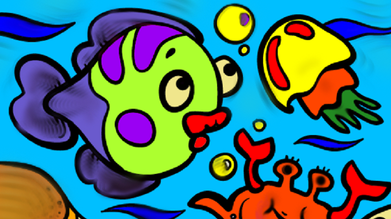 super kids coloring drawing screenshots - Simple Nature Drawing For Kids