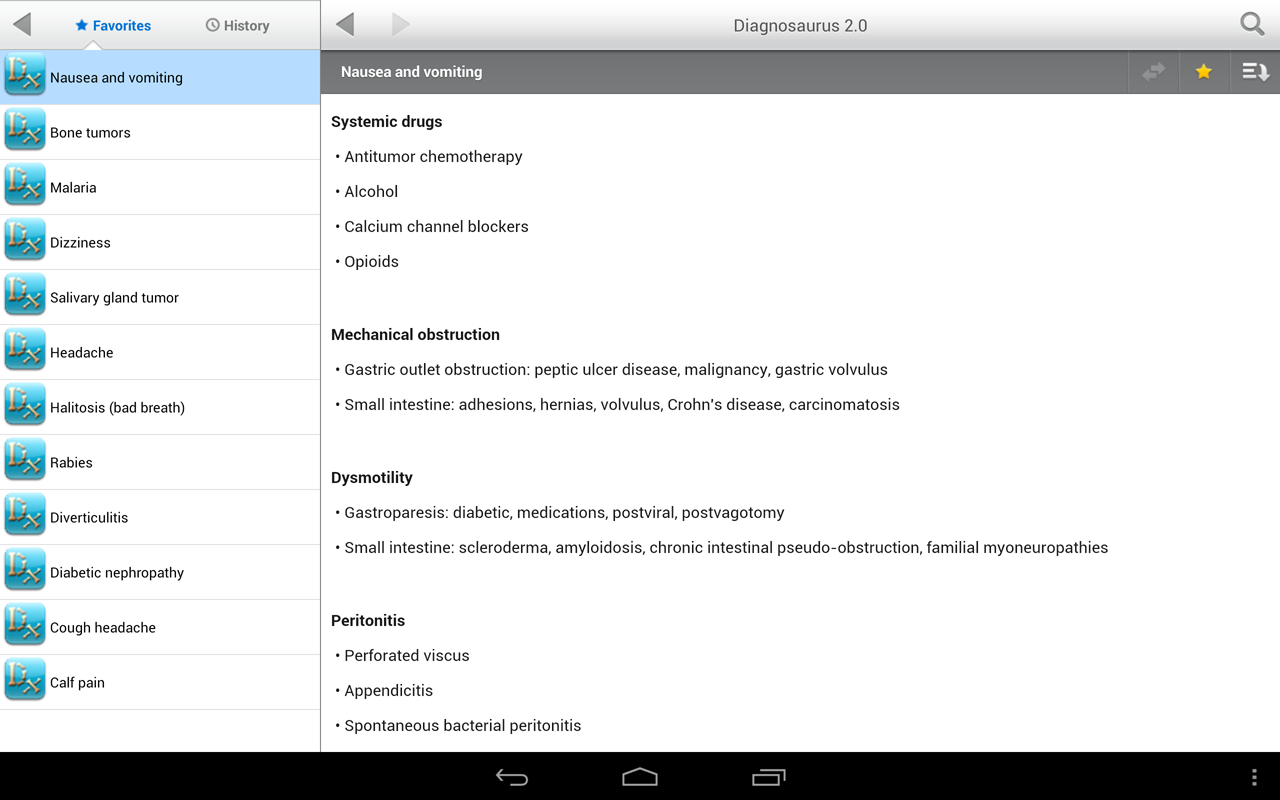 Diagnosaurus DDx - screenshot