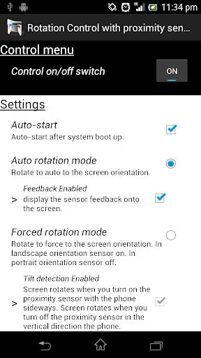 Rotation with proximity sensor