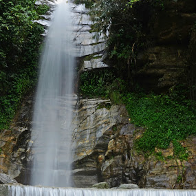 Bonjakhri waterfall by Abhishek Ghosh - Landscapes Waterscapes