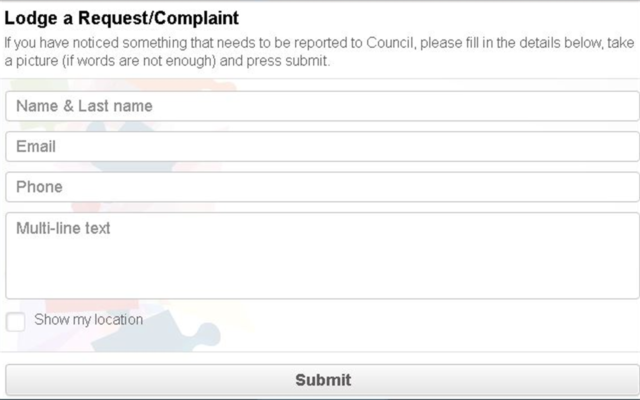 Guyra Shire Council- screenshot