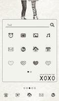 Screenshot of love you xoxo dodol theme