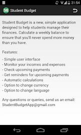 Student Budget Screenshot 7