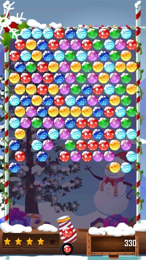 Bubble Shooter: Christmas day - screenshot