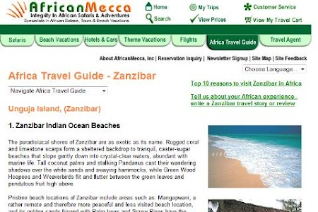 Zanzibar Travel Hotel Guide screenshot 1