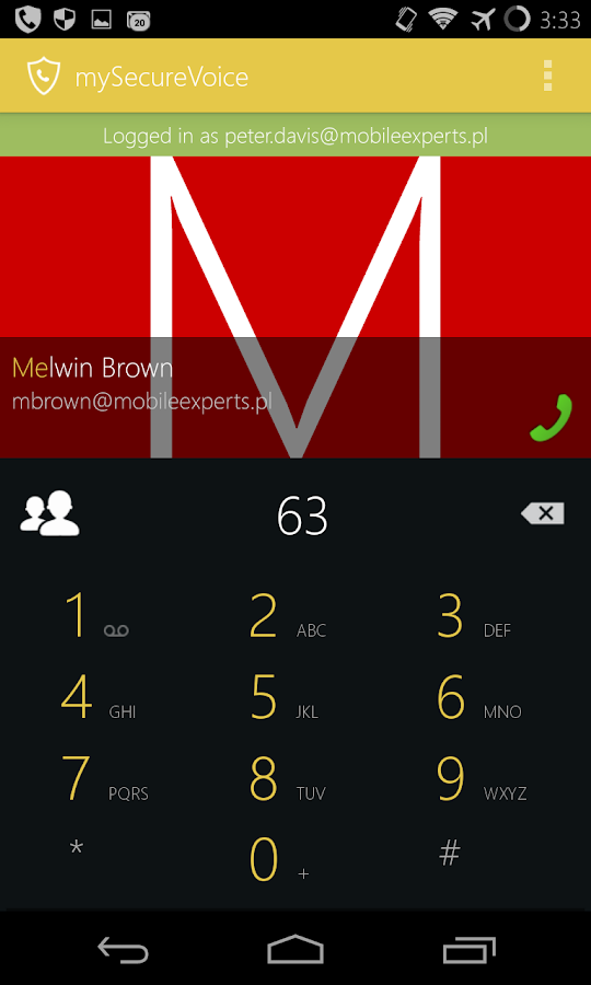 my Secure Voice - safe calls - screenshot