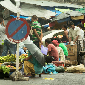 Street Vendors by Kaushik Mitra - City,  Street & Park  Street Scenes