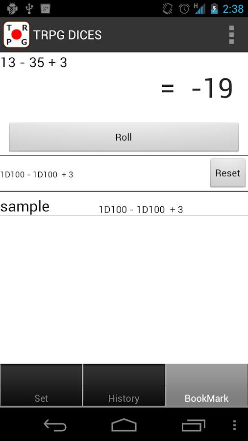 RPG DICES - screenshot