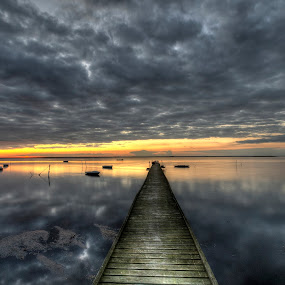 The jetty at Vensholm by Kim  Schou - Landscapes Cloud Formations ( clouds, vensholm, kim schou, hdr, jetty, Free, Freedom, Inspire, Inspiring, Inspirational, Emotion,  )