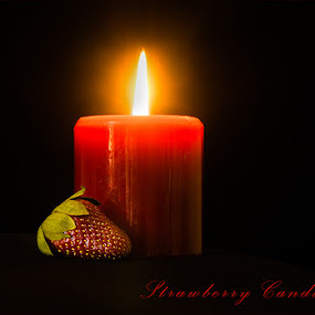 Strawberry Candle by Zdenka Rosecka - Typography Captioned Photos (  )