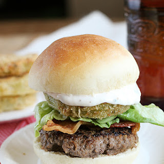 Bacon, Lettuce and Fried Green Tomato Sliders