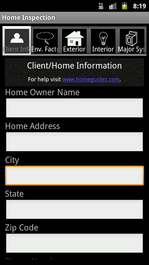 Home Inspection App- screenshot