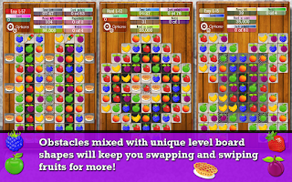 Screenshot of Fruit Drops 2 - Match 3 puzzle