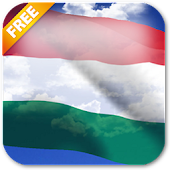 3D Hungary Flag Live Wallpaper