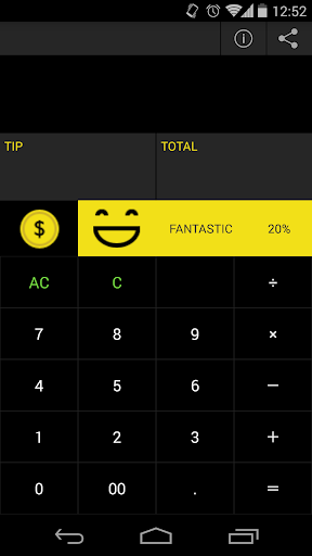 THANKS TIP CALCULATOR