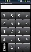 Screenshot of Speak n Talk Calculator Lite