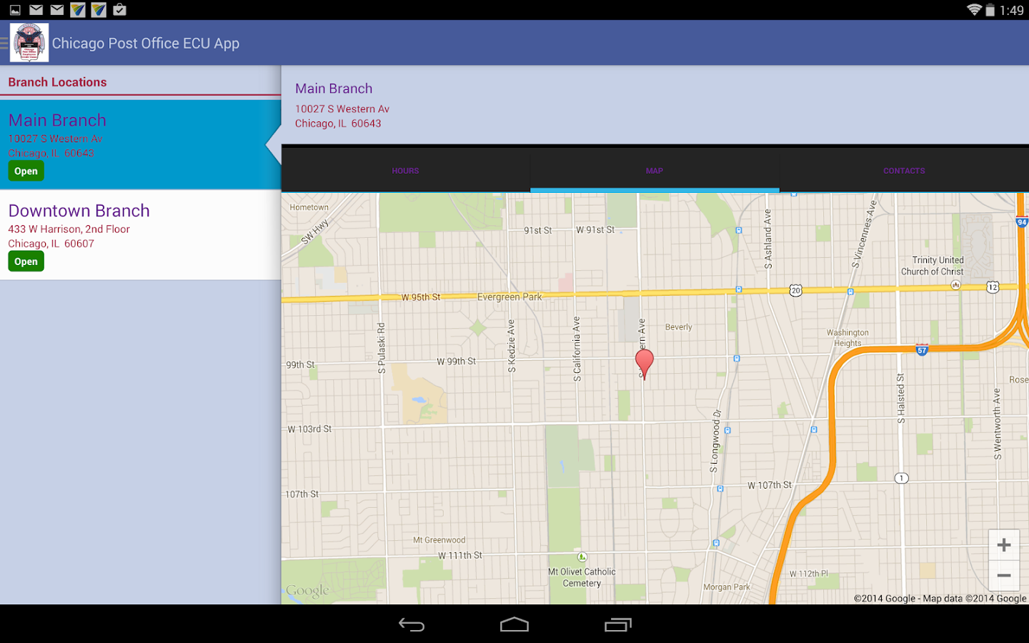 Chicago Post Office ECU App Android Apps On Google Play - Chicago map app