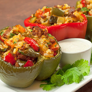 Pepper-Stuffed Peppers with Chorizo