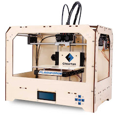 Flashforge Creator Dual Extrusion 3D Printer Wood & 2 Spools Filament