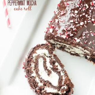 Peppermint Mocha Cake Roll