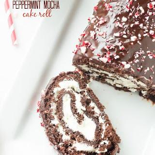Peppermint Mocha Cake Roll.