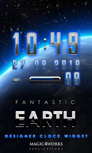 Earth Glow Digital Clock