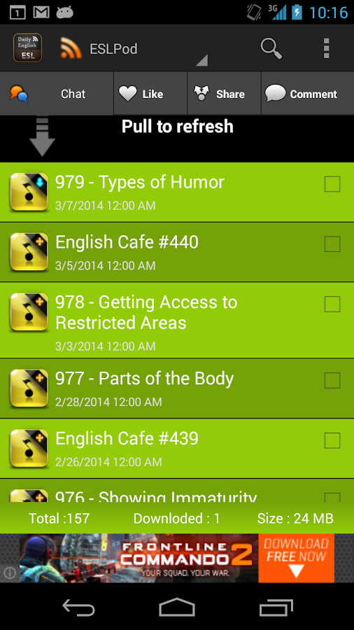 ESL Daily English - screenshot