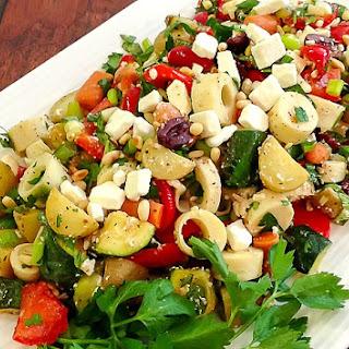 Greek Inspired Leftover Salad.