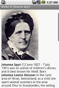 Works of Johanna Spyri- screenshot thumbnail
